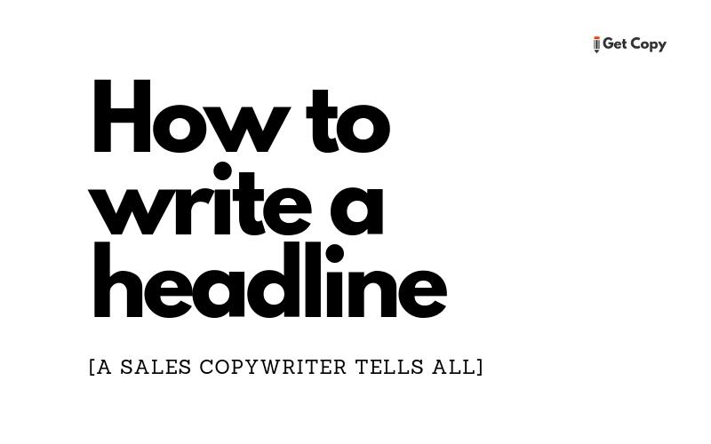 How To Write A Sales Headline