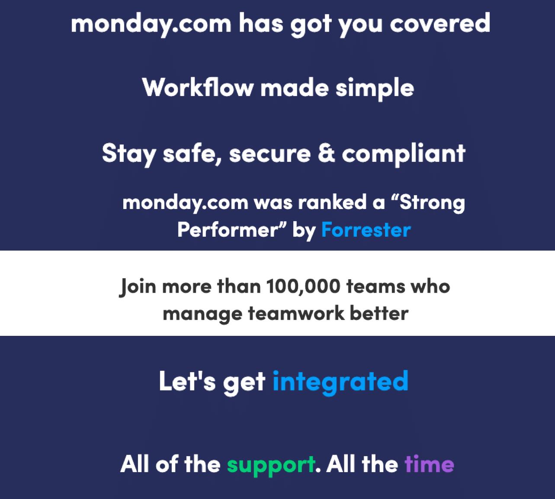 Mondaydotcom sub heading examples